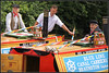 Watching the Detective............. (Jason 87030) Tags: detective davidcuchet poirot nutfield raymond wife man boat officially open event rally historic braunston marina guc cut grandunioncanal festival show uk england june 2018 ceremony calendar boats raymong blueline carrier famous