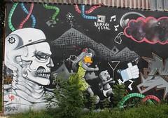 Graff: Kermoguer à Quimper (15/08/2018) (EricFromPlab) Tags: bretagne finistère quimper breizh brittany graff graffiti tag tags street art urban wall mural streetart skull