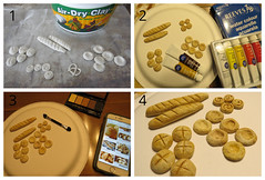 1 of 2. Making 1:6 Baked Goods (Foxy Belle) Tags: food clay baked goods handmade ooak water color air dry crayola chalk pastel eye shadow 16 scale playscale dollhouse doll barbie tutorial how make paint