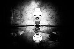 lamp (Chilanga Cement) Tags: nikon nik nikond810 lamp bw blackandwhite monochrome reflection reflections reflecting reflective oil light lightroom glass