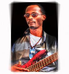 (daystar297) Tags: streetportrait portrait musician guitar bassguitar jazz blues music performer artist nikon sunglasses