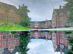 Reflection of Windsor at Purdue (Edwar9487) Tags: purdue westlafayette iphone8plus reflection building