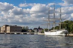 Stockholm mit Af Chapman im Vordergrund (KL57Foto) Tags: 2018 juli july kl57foto omdem1 olympus schweden sommer summer sverige sweden stockholm