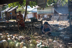 Inner Meno (zeuszain) Tags: fire barbeque people streetphotography coconut cooking baby woman rural indonesia gilimeno