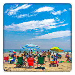 A Day at the Beach (Timothy Valentine) Tags: clichésaturday 0718 large people sky ocean footbridgebeach 2018 ogunquit maine unitedstates us