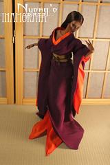 Nyong'o - Inamorata OOAK (em`lia) Tags: emlia emiliacouture inamorata inamoratadoll chocolateskin hardcapwig hair kimono juban obi vintage