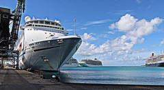 Cruise ships in Barbados (yorkiemimi) Tags: barbados bridgetown cruise ships water maritime sea mscolumbus sky carribbean schiffe kreuzfahrt meer hafen port