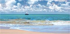 One of those days in South Beach. (Aglez the city guy ☺) Tags: miamibeach miamifl seashore seascape sea sailboat waves walking walkingaround waterways urban outdoors clouds cloudy blue beachscape beach beachshore