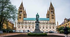 2018 - Hungary - Pécs - Cathedral (Ted's photos - For Me & You) Tags: 2018 cropped hungary nikon nikond750 nikonfx pécs tedmcgrath tedsphotos vignetting pécscathedral cathedralofstpeterandpaul pecscathedralofstpeterandpaul cathedralofstpeterandpaulpecs church churchspires ignácszepessy ignácszepessystatue ignácszepessypecs statue vehicles spires arches stpeterandstpaulbasilica pecsstpeterandstpaulbasilica stpeterandstpaulbasilicapecs pécshungary pecshungary