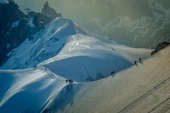 Arete Aiguille du Midi (Albe_outdoors) Tags: mountain climbing alps aiguilledumidi chamonix mountaineering
