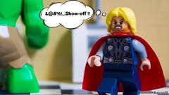 Hulk vs Thor (black.zack00) Tags: thor hulk avengers marvel lego superhero afol mini minifig minifigure photography toy toys humour fun funny