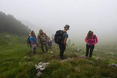 Vranica mountain, Bosnia and Herzegovina (HimzoIsić) Tags: mountaineering hiking trekking nature poeple grassland grass fog mist hill mountain mountainside outdoor adventure
