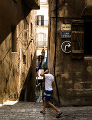 Take a right (▪ Paul Blanchard ▪) Tags: corsica streetphotography bonifacio colours blackandwhite people roadsign dog oldstreet stonewall light shadow contrast architecture lamppost broken dirty street photograph mother kid cat twilight colour lampost shadows silhouette stars field winter lowkey brickwall mistymoutain mist waterdrops leaves nature scotland landscape ajaccio pyrenees lacoo waterfall oldpeople