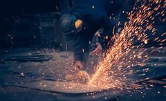 Spark producer (Frank Busch) Tags: frankbusch frankbuschphotography asia bhutan bumthang menatwork metalworkshop travel work wwwfrankbuschname wwwfrankbuschphoto