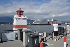 Brockton Point 3 (wfung99_2000) Tags: brocktonpoint stanleypark seawall narrows vancouver harbour cruise ship alaska lighthouse flags mountains nieuwamsterdam hollandamerica britishcolumbia canada firstnarrows