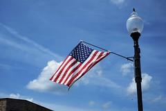 Osseo, WI, USA - Saturday, June 23, 11:46 AM (kyonoshashin) Tags: osseo wisconsin usa americanflag bluesky summer americana アメリカ