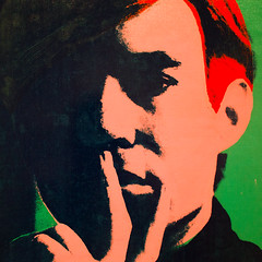 The Opening Act (Thomas Hawk) Tags: andywarhol california museum sfmoma soma sanfrancisco sanfranciscomuseumofmodernart usa unitedstates unitedstatesofamerica warhol painting selfportrait fav10