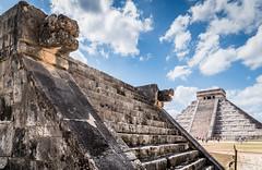 Chichén Itzá. (catrall) Tags: mexico yucatan temple ruin chichenitza archaeology unesco maya culture templeofkukulkan elcastillo nikon d750 fx sigma sigmalens march 2018