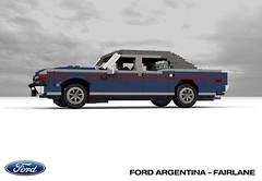 Ford Argentina - Fairlane (lego911) Tags: ford motor company argentina do fairlane 1969 1960s 1970s v8 sedan saloon south america auto car moc model miniland lego lego911 ldd render cad povray 500 ltd 1973