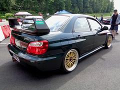 Subaru Impreza (911gt2rs) Tags: treffen meeting show event tuning tief stance jdm carbon spoiler heckflügel wrx sti gd custom sedan grün green