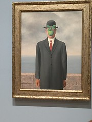 Magritte's Bowler Man (Talley1144) Tags: sanfrancisco sfmoma magritte surrealism