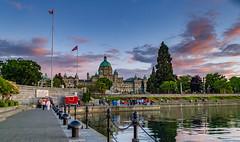 Parliament House at Sunset (alans1948) Tags: victoria britishcolumbia vancouverisland canada britishcolumbiacanada harbor parliamenthouse lumix lx5 lumixlz5