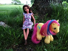 Cactus Beauties (flores272) Tags: barbie barbiedoll mlp mylittlepony cactusmylittlepony texmylittlepony bigbrothermylittlepony outdoors doll dolls toy toys