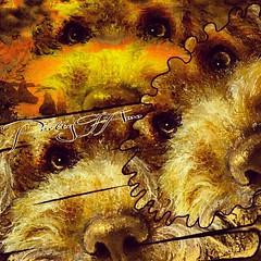 Pretty TiAmo  Painting Art Design  以前にお絵描きした作品で、愛犬ティアモをデザイン編集加工しました。 (nodasanta) Tags: instagramapp square squareformat iphoneography uploaded:by=instagram valencia