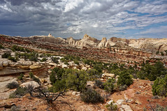 am I repeating myself? (rovingmagpie) Tags: utah capitolreefnationalpark capitolreef fryingpantrail backcountry weather clouds summer2018