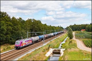 HSL Netherlands 186 383 + Keteltrein, Hengelo Oost