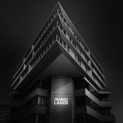 Indestructible (blondmao) Tags: fineart baselland building bnw switzerland münchenstein 16stopper noperson dark apartmenthouse transitlager bw longexposure concrete blackandwhite residentialbuilding basel