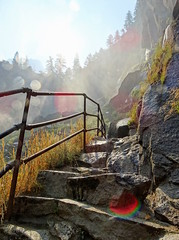 In the Breath of the Waterfall (The-Beauty-Of-Nature) Tags: summer sommer july juli nature california kalifornien usa vacation urlaub yosemite national park vernal fall trail hiking waterfall