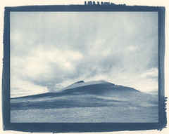 slope (lawatt) Tags: reykjanes slope hill pasture shadows clouds árneshreppur westfjords iceland altprocess cyanotype traditional berggercot320