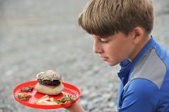 Nathaniel's Creation (MrHRdg) Tags: wales northwales lleynpeninsula gwynedd nantgwrtheyrn burger chips beach seaweed rock stone cheeseburger penllŷn