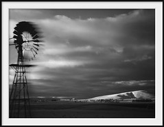 fast wind-pump (Andrew C Wallace) Tags: windpump windmill speed car ir infrared microfourthirds m43 olympusomdem5 thephotontrap