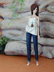 """Linnen"" and the boyfriend jeans (Levitation_inc.) Tags: ooak doll dolls clothes handmade fashion fashions royalty nuface integrity toys levitationfashion etsy barbie barbiestyle poppy parker summer boho 2018"