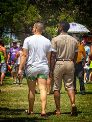 pride couple  101 (LarryJay99 ) Tags: pridefest2018 2018 lakeworth florida festival backpackers urbanbackpackers couple profiles mixedcouple rainbows legs walking peeking peekingnipples faces facialhair goatee beards mustasch hands hairylegs hairymen man men guy guys dude male studly manly dudes handsome dimples flickrmen