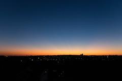 Radiance (pi3rreo) Tags: sunset france extérieur fujifilm fujinon xe2 flou blue bleu black noir orange city ciel sky soleil coucherdesoleil ville urbain urbanscape urban immeubles