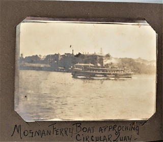 Mosman Ferry approaching Circular Quay, N.S.W. - early 1920s