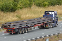 FX16 KHB (panmanstan) Tags: scania r580 wagon truck lorry commercial steel freight transport haulage vehicle a1m fairburn yorkshire
