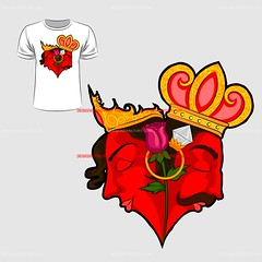 Abstract graphic design of love and Valentine for t-shirt or banner print (designfactory1066) Tags: tshirt abstract amour artistic celebration emotion expression feeling creative print romance trendy template urban fashionable banner popart valentine vintage artwork creativity graphic style clipart poster pop love casual vector card heart happy shirt design romantic apparel illustration background fashion art greeting enamored holiday king queen crown rose