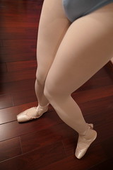 pointe shoes in tights (重庆彭于晏) Tags: pointe shoes ballet ballerina ballerino dance white tights pink canvas 芭蕾 sissy gurl chastity