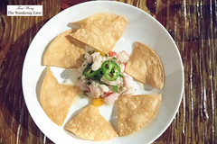 Sea bass ceviche with jalapenos, radish, ginger (thewanderingeater) Tags: theporthunter edgartown massachusetts