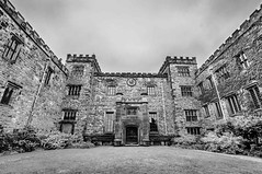 _DSC.0014 - Towneley Hall, Burnley (SWJuk) Tags: burnley england unitedkingdom swjuk uk gb britain lancashire home towneley towneleyhall bw wideangle 2018 aug2018 summer tokina1116mm countryhouse parkland rawnef lightroomclassiccc