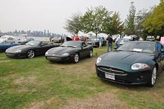 Jaguar Stable (1) (Gearhead Photos) Tags: jaguar e type mga mgb mgtc mgc gt english cars british delorean mgf xk xj xjs xf v8 ford cortina austin healey morgan plus 4 convertible 120 140 150 waterfront park north vancouver bc canada
