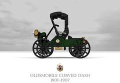 Curved Dash Oldsmobile 1901-1907 (lego911) Tags: olds oldsmobile general motors gm 1901 1900s vintage veteran runabout usa america american auto car moc model miniland lego lego911 ldd render cad povray curved dah oldtimer tiller