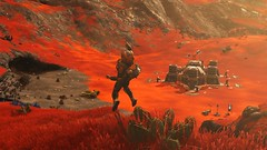 No Man's Sky NEXT | Happy (Green Mario) Tags: no mans sky next exploration space happy celebration orange planet red spaceship base whispering eggs monstrosity biological horror fighter sclass