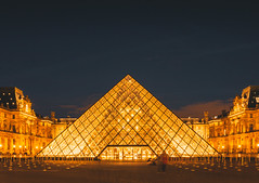 Glass Pyramid (IRRphotography) Tags: pyramids louvre frence paris museum night lights city europe europa travel