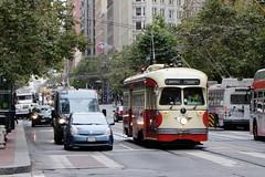 Streetcar on Market Street (photo101) Tags: sanfrancisco streetcar railway muni