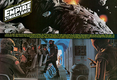 The Empire Strikes Back foldout from Famous Monsters, 1979 (gameraboy) Tags: vintage film movie theempirestrikesback starwars famousmonsters 1979 1970s 1977